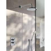 Hotbath IBS 2A Get Together inbouw doucheset Laddy vierkant - chroom - met ronde 3 standen handdouche - 30cm hoofddouche - met wandarm - met glijstang