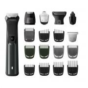 Kit de ingrijire Face, Head & Body 18 in 1 Philips Multigroom MG7785/20, Fara fir, Litiu-ion, Autonomie 300 min., Rezistent la apa, Indicatori LED, Negru