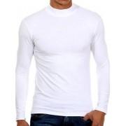 Doreanse Мужская белая футболка с длинными рукавами и воротником стойкой Doreanse Long Sleeve 2930c02