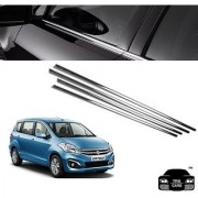 Trigcars Maruti Suzuki Ertiga new Car Window Lower Garnish Chrome