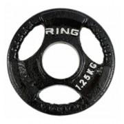 RING Olimpijski tegovi liveni sa hvatom 1x 1,25kg RX PL14-1,25