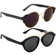 NuVew Oval, Round Sunglasses(Blue, Grey, Violet)