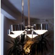 Top Light Puk Ceiling Sister Twin Deckenleuchte chrommatt 8x Linse matt 100cm Standard-Fassung