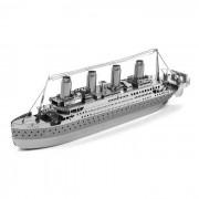 DIY 3D rompecabezas modelo montado juguetes educativos barco - plata