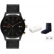 Sem Lewis | Metropolitan Northwick zwart chonograph Park horloge en 3-pack sokken gift set