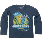 Bluza maneca lunga Minecraft ORIGINAL licenta Mojang Grey