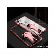 Funda Case Con IPhone 6 6s Carcasa Suave Con Soporte Plegable-Oro Rosa