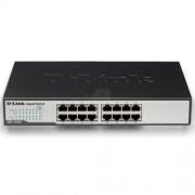 D-Link DGS-1016D 16-Port 10/100/1000Mbps Copper Gigabit Ethernet Switch, rack mountable