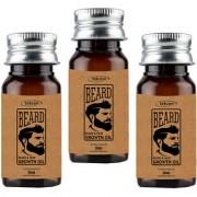 Meralite Organic Mustache and Beard Oil Pack of 3 Hair Oil (105 ml) (ML-BEARD 35ML-PACK OF 3)