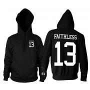 kapucnis pulóver férfi - Faithless 13 - BLACK CRAFT - HS030FL