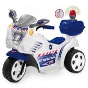 Elektromos háromkerekű rendőrmotor - 72 cm, 6V, bébimotor - Járművek
