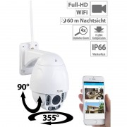 7links Speed-Dome Outdoor-WLAN-IP-Überwachungskamera mit Full HD & Nachtsicht