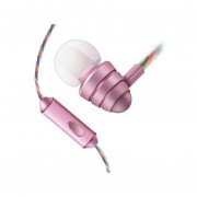 Audífonos Estéreo HD Manos Libres Deportivos, KDK-204 En-Oído 3.5mm Super Bass Auriculares Para Mp3 Mp3 (Rosa)