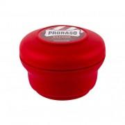PRORASO Red Shaving Soap In A Jar 150 ml tuhé mýdlo na holení s vůní santalového dřeva pro muže
