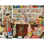 Bits and Pieces - 300 Large Piece Jigsaw Puzzle for Adults - Sweet Shop - 300 pc Candy Store Jigsaw by Artist Tracy Hall