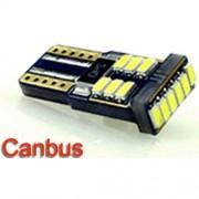 Autós led T10 Canbus helyzetjelző, index világítás, Samsung chip, 18 led, 70 Lumen, 1,5W, sárga. Life Light Led 1 év garancia!