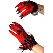 Duivelse handschoenen met lange nagels