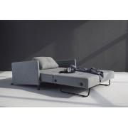 Innovation Slaapbank Cubed 140 Armleuningen - Twist 565 Grijs