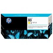 HP INK-JET HP 80 DESKJET CABEZAL AMARI+LIMP C4823A