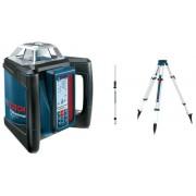 Bosch GRL500H forgólézer falitartóval BT170 állvánnyal és GR240 mérőléccel