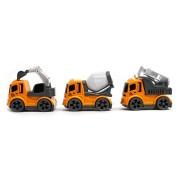 Saubhagya Global Yellow Colour Mini Construction Vehicle Toy Simulation Set | Educational Construction Truck Set | Set of 3 | Yellow