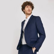 Brice veste de costume slim premium en laine italienne Bleu Marine taille: 48