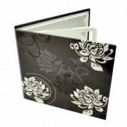 Carcasa 4 CD DVD model Black and White design floral