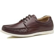 Brent Shoes Florence Lace Casuals For Men(Burgundy)