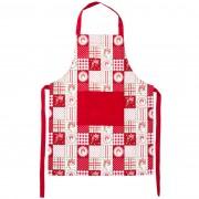 Şorţ Country patchwork, roşu, 60 x 80 cm