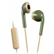 JVC hoofdtelefoon in-ear + microfoon groen-beige HA-F19M