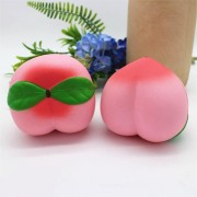 Squishy Pink Peach 10cm Slow Rising Fruit Collection Gift Decor Funny Toy