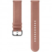 Curea piele Samsung Leather Strap pentru Galaxy Watch Active 2 / Galaxy Watch (42mm) / Gear Sport Rose Gold