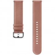 Curea piele Samsung Leather Strap pentru Galaxy Watch Active 2 / Galaxy Watch (42mm) / Gear Sport Rose Gold