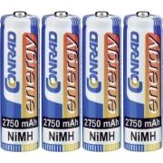 Set 4 acumulatori AA NiMH 1.2 V, 2750 mAh, Conrad energy HR06