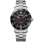 Wenger Roadster Black Night Montre à quartz acier inoxydable