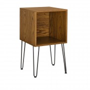 Шкаф с крака Hairpin [en.casa]® , 45x45x40cm, MDF, Орех
