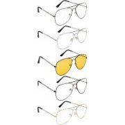 NuVew Aviator Sunglasses(Blue, Golden, Green, Clear, Red, Yellow)