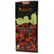 Ciocolata neagra cu fructe de padure si Stevia 125g Torras