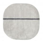 Normann Copenhagen Oona vloerkleed grijs medium 140x140