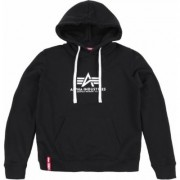 Alpha Industries New Basic Felpa con cappuccio da donna, nero, dimensione S per donne