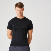 Myprotein Bezszwowa Koszulka z Kolekcji Elite – Czarna - XL - Czarny