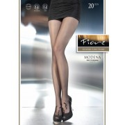 Fiore - Subtle floral pattern tights Modena 20 DEN