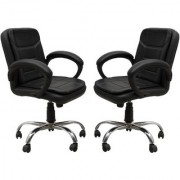 Fabsy Interior - Baxtonn Office Chair (Buy 1 Get 1 Free) In Steel By Fabsy Interiors Furniture