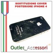 Sostituzione Assemblaggio Cambio Cover Vetro Scocca Posteriore per Apple Iphone 4s