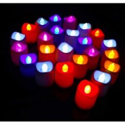 ReBuy Multi Purpose Battery Color Changing Tea Lights Pack of 24 7 Attractive Colors