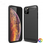 Apple iPhone 11 Pro Max 6.5 inch (2019) Удароустойчив Carbon Fiber Калъф и Протектор