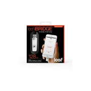 Leef IBridge 128GB Mobile Memory IOS USB Flash Drive With Lightning Connector For Apple (White)