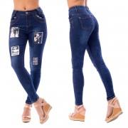 V&V Dámské jeans s nášivkami - Fashion (31) - V&V