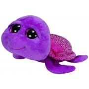 TY Peluche Turtle Purple with Glitter eyes Slowpoke 15cm