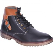 Sukun Black Ankle Length Casual Shoes For Men (BBTBKLBLK)